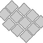 Wzór brukarski diagonalny