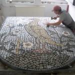 Wzór mozaika granitowa